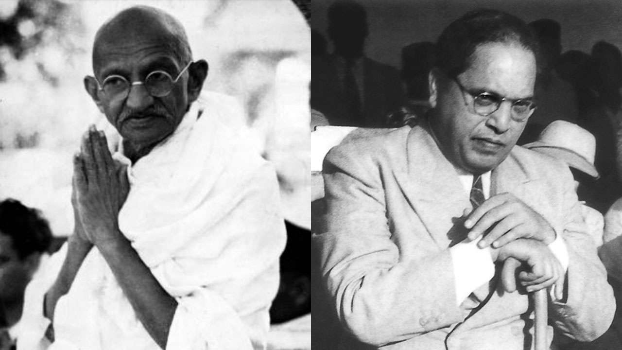 How was Gandhi and Ambedkar related?
