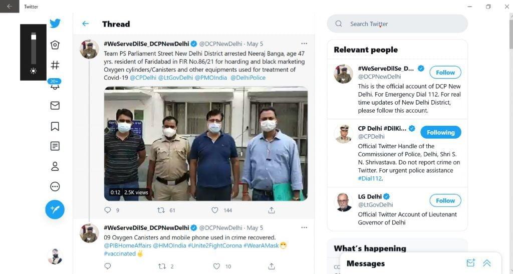 Delhi Police arrested Neeraj Banga for hoarding and black marketing Oxygen cylinders